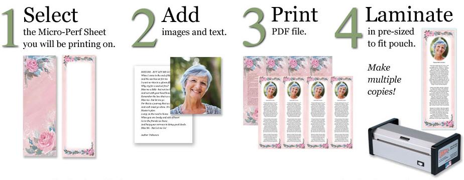 make custom memorial bookmarks online