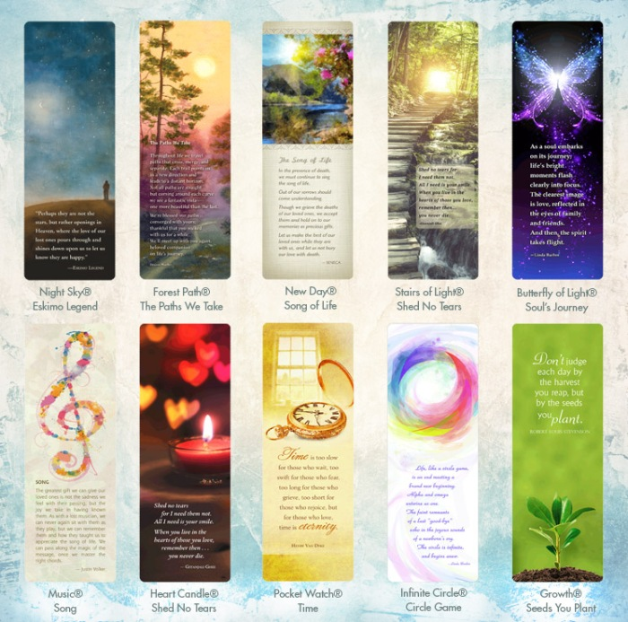 10 cel of life bookmarks